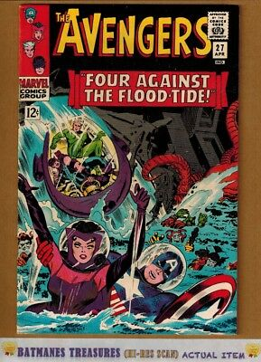 Avengers #27 (8.0-8.5) VF+ By Stan Lee & Jack Kirby 1966 Silver Age Key Issue