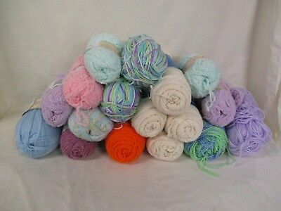 Mixed Yarn LOT Assorted Colors & Brands Acrylics Baby Yarn (AD)