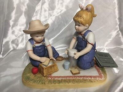 Denim Days Collection By Homco The Picnic Home Interiors Figurine