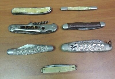 Lot of Pre-Owned Vintage Pocket Knives Parts & Pieces Germania, Camp Knife, ETC