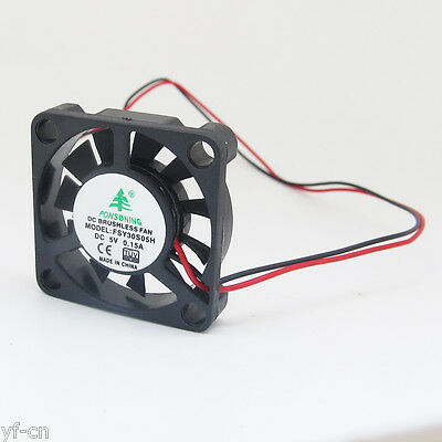 1pc 30mm Brushless DC Cooling Fan 30x30x6mm 3006 11blade 5V 2pin Connector US