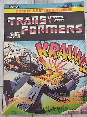 marvel transformers comics uk issue #12. Dated 23rd Feb - 8th March 1985.
