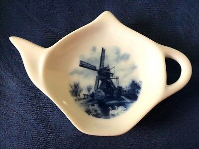 Windmill 3 New Handmade Ceramic-Porcelain Tea Bag Spoon Rest Gift Collectable