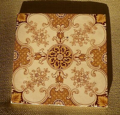 Original Victorian fireplace tile English made by Mintons pattern no 2345