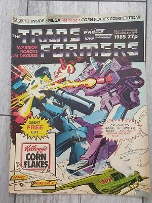 marvel transformers comics uk issue #25. Dated 24th Aug - 6th Sept 1985