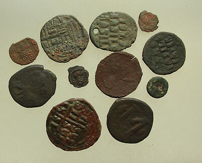 Lot of 11x Byzantine AE Coins Sicily D= 10-30mm  75gr