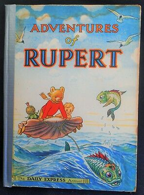 Vintage Original 1950 Rupert Bear Annual, Price Unclipped 4/-