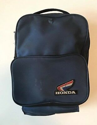 Vintage Honda Magnetic Motorcycle Gas Tank Bag - Hondaline Red White Blue