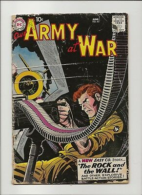 Our Army at War 83 G- 1.8 First Full Sgt Rock by Joe Kubert 1959 Key 1st App
