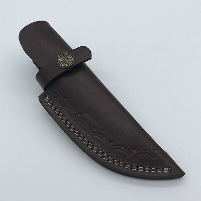 "YA31/ Custom  Handmade 7"" Leather Sheath For Fixed Blade Knife"