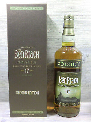 BenRiach SOLSTICE 17 years SECOND EDITION 70cl 50vol% Peated/Port Cask Finish