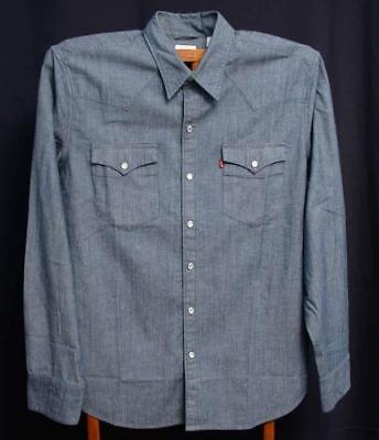 f9687b3c73 Levi s Men s Barstow Western Shirt 658160200 New With Tags Pearl Snaps Large
