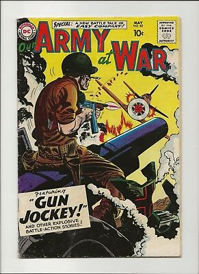 Our Army at War 82 VG/F 5.0 First Sgt Rock by Joe Kubert 1959 Key 1st App