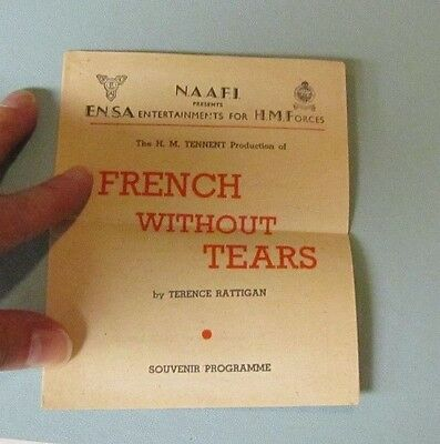 1945 WWII ENSA His Majesty's Forces French Without Tears Program Rex Harrison