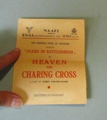 1945 ENSA His Majesty's Forces Heaven and Charing Cross Program Gnr Eric Whittle