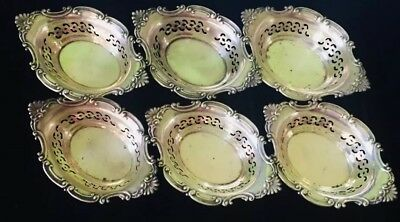 Set of 6 Gorham Sterling Silver Nut Dishes