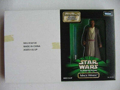 Star Wars POTF - Mail in Preview Mace Windu with Blue Lightsaber