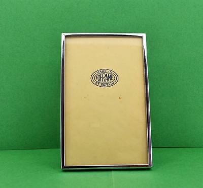"""Art Deco Foframe Chrome Photograph frame in beautiful condition 5.3/4"""" x 3.3/4"""""""