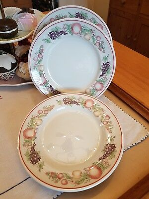5 Boots Orchard Side Plates, 18cm Diameter