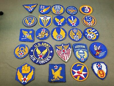 Group Of Vintage Military Insignia Patches