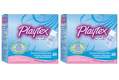 Playtex On-The-Go Personal Cleansing Cloths Singles Light Fresh Scent 40 ct