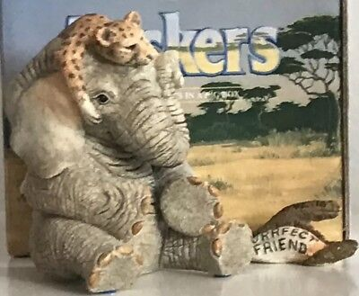 "Tuskers & Henry *Very* Rare & Retired Love Is -"" A Purrrfect Friend"" New In Box"
