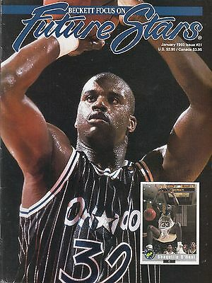 Beckett Focus -Future Stars #21 1993 Shaquille O'neal Cover Rookie Year..fn/vf
