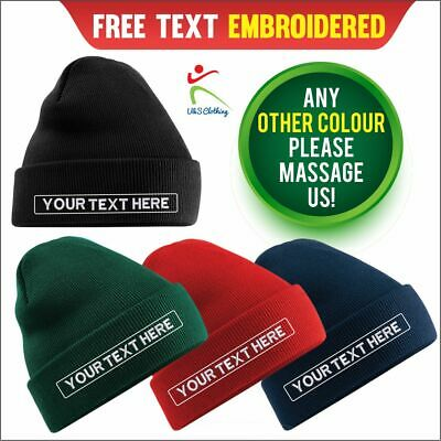 Personalised Beanies Custom Workwear Embroidered Beanie Hat Work Staff Company