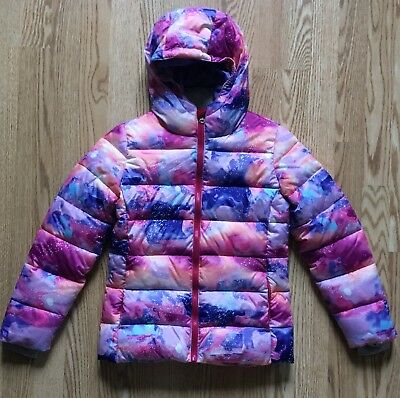 3ca87a7ab NEW C9 CHAMPION Girls Printed Puffer Jacket Winter Coat Purple Pink ...