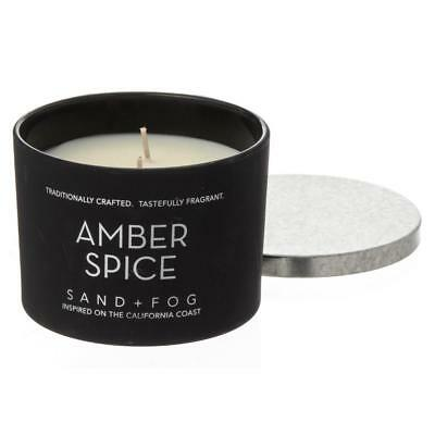 Sand + Fog Amber Spice Matte Candle with Galvanized Lid - 2-Wick, 12 oz.