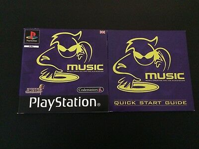 Music + Quick Start Guide Manual Only - Sony PlayStation PS1