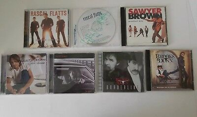 Lot of 7 CDs Keith Urban, Brooks & Dunn, Sawyer Brown, Rascal Flatts