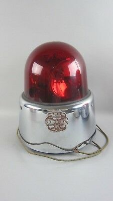 Federal Sign & Signal Rotating Beacon Light Model 17 12V DARK RED Dome