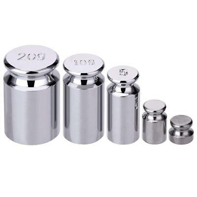Plating Calibration Gram Scale Weight Set for Digital Balance Silvery white 5pcs