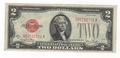 "1928 G $2 ""Legal Tender"" United States Note SN D82102701A"