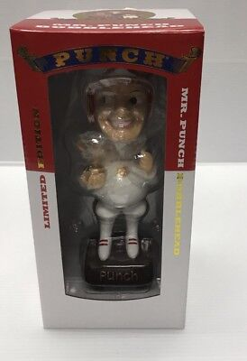 New 2017 Punch Cigars Advertising Promotional Mr. Punch Racing Bobble Head