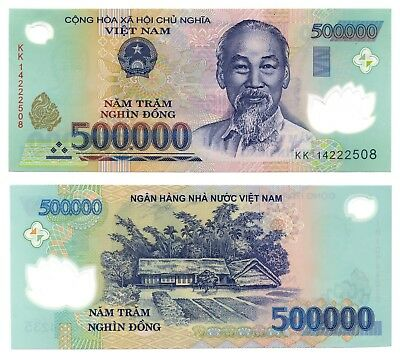 500,000 VietNam Dong, U.S. Seller 1 x 500,000 Circulated Vietnamese Banknote