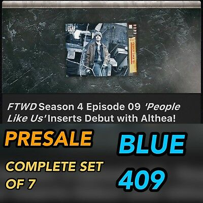 FTWD FEAR 409 BLUE SET OF 7 PRESALE Topps Walking Dead Trader Digital Card