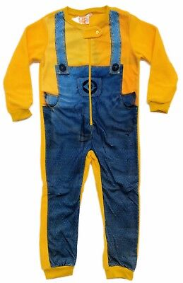 Minions All In One Fleece Boys Girls Kids Childrens 3 4 5 6 8 Years old