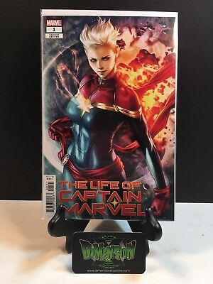 """The Life of Captain Marvel #1 Stanley """"Artgerm""""  Variant Cover"""