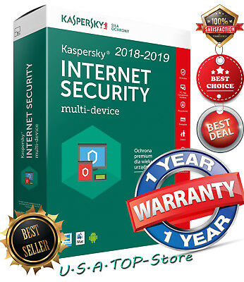 Kaspersky Internet Security Antivirus 2019 1 DEVICE PC 1 Year Global License
