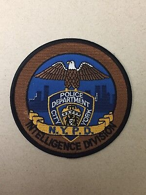 NYPD City Of New York Police Department Intelligence Division Patch.