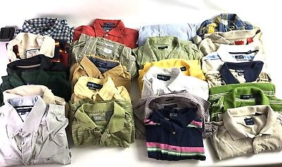 Reseller Lot of 26 Ralph Lauren Tommy Hilfiger J Crew Polo Men's Button Shirts