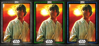 Topps Star Wars Card Trader Illustrated S6 CTI Green/Blue/Gray FARMBOY SKYWALKER
