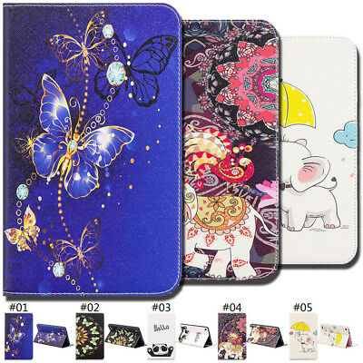 "For Samsung Galaxy Tab A 7.0""(2016) Painted Folio Stand PU Leather Case Cover"