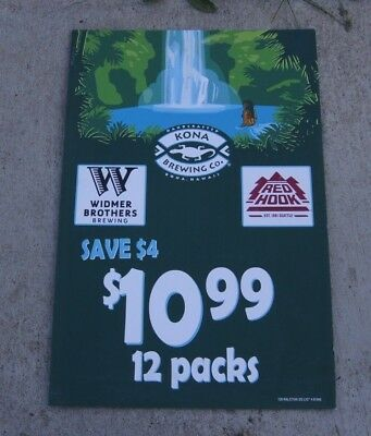 Kona Widmer Brothers Red Hook 12 Pack Sale Vinyl Sign 20x30