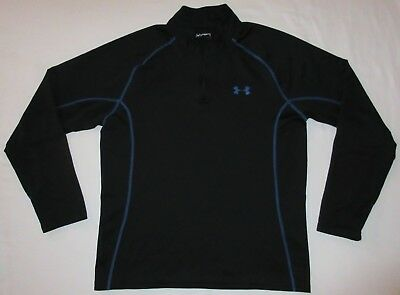 Under Armour Cold Gear Fitted Running Long Sleeve Shirt Black Men's Large