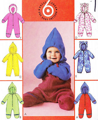 NEW  McCalls Pattern 4233 BABY INFANT BUNTING 6  STYLES  Sizes S, M, L, XL