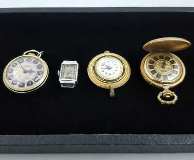 Lot of Estate Finds Women's Three Vintage Pocket or Pendant Watches 1 Wristwatch