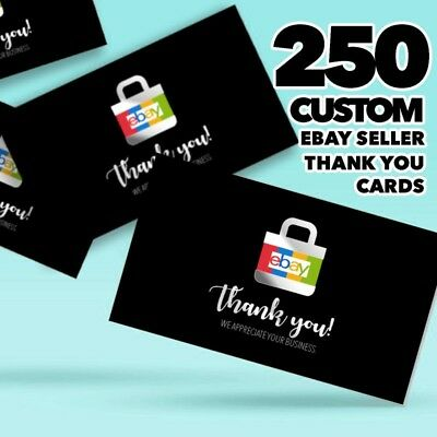 250 EBAY Personalized THANK YOU seller 5 star review feedback cards